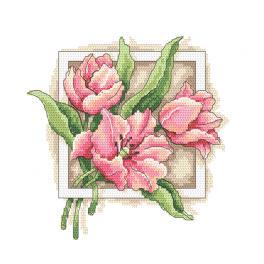 GC 10312 Wzór graficzny - Wdzięczne tulipany
