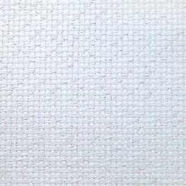 964-54-3542-11 AIDA metalizowana biała-opal 54/10cm (14 ct) - 35 x 42 cm