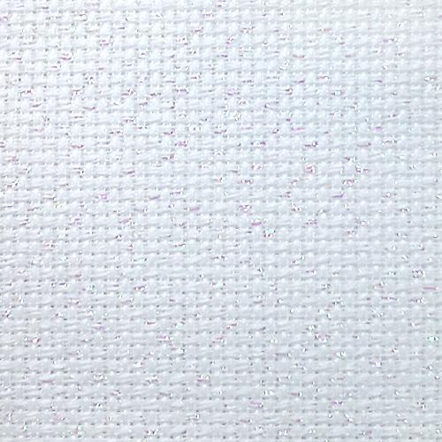 964-54-4254-11 AIDA metalizowana biała 54/10cm (14 ct) - 42 x 54 cm