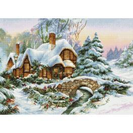 LS BU5001 Zestaw do haftu - Zimowy krajobraz