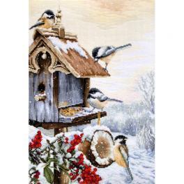 LS BU4021 Zestaw do haftu - Domek dla ptaków