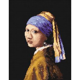 K 4514 Kanwa z nadrukiem - Dziewczyna z perłą - J.V. van Delft