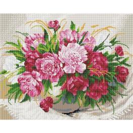 PD4050176 Zestaw do diamond painting - Delikatne kwiaty