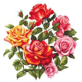 K 10674 Kanwa z nadrukiem - Róże II