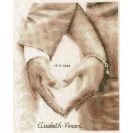VPN-0187247 Zestaw do haftu - Serce nowożeńców