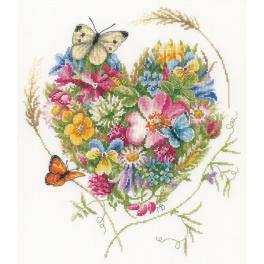 LPN-0169960 Zestaw do haftu - Kwiatowe serce