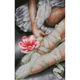 LPN-0157513 Zestaw do haftu - Moje małe buciki baletnicy