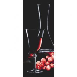 Z 10319 Zestaw do haftu - Kieliszek z różowym winem