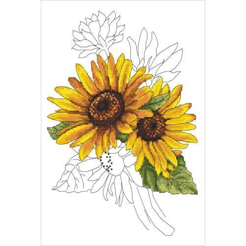 GC 10322 Wzór graficzny - Dostojny słonecznik