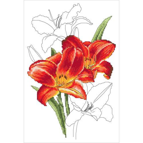 GC 10320 Wzór graficzny - Romantyczny liliowiec