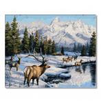 PC4050755 Malowanie po numerach - Jelenie zimą