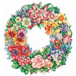SANT-15 Zestaw do haftu - Triumf kwiatów