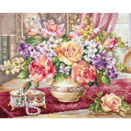 ALI 2-50 Zestaw do haftu - Róże w salonie