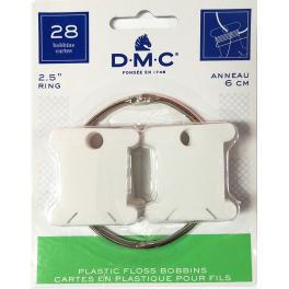 AC 6105-12 Plastikowe bobinki DMC z kółkiem do spinania