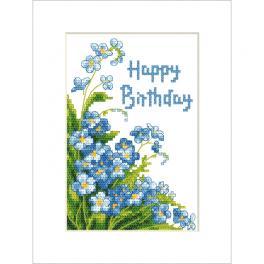 ZU 10678 Zestaw do haftu - Kartka - Happy Birthday