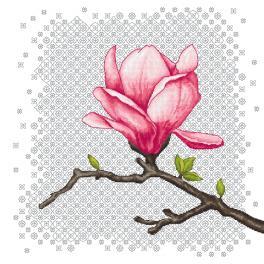 GC 10671 Wzór do haftu drukowany - Czarująca magnolia
