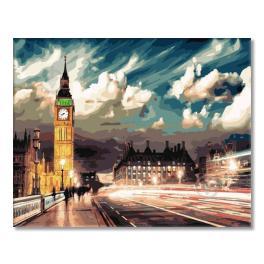 GX22077 Malowanie po numerach - Londyn pod osłoną nocy