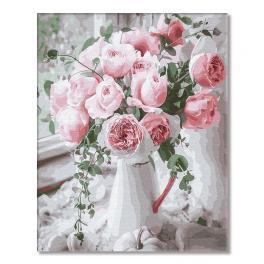 GX29390 Malowanie po numerach - Pudrowe róże