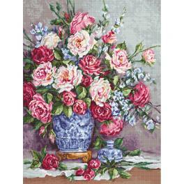 LS B605 Zestaw do haftu - Róże Jej Wysokości