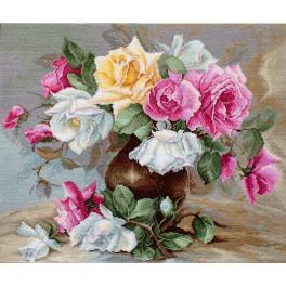 LS B587 Zestaw do haftu - Wazon z różami