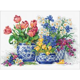 LS B2386 Zestaw do haftu - Wiosenne kwiaty