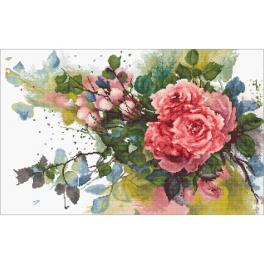 LS B2383 Zestaw do haftu - Czerwone róże