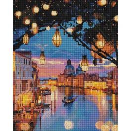 PD4050180 Zestaw do diamond painting - Lampki nad Wenecją