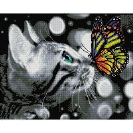 PD4050177 Zestaw do diamond painting - Motylek i kotek