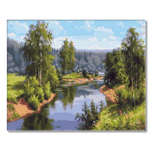 PC4050554 Malowanie po numerach - Letni krajobraz
