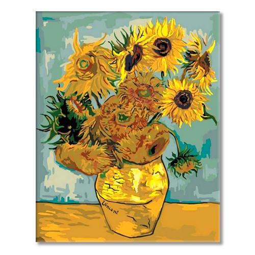 MG098 Malowanie po numerach - Słoneczniki - V. van Gogh