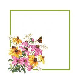 GU 10469 Wzór do haftu drukowany - Serwetka z kwiatami