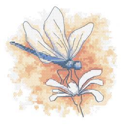 GC 10466 Wzór do haftu drukowany - Pastelowa ważka
