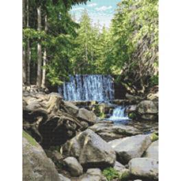 K 10683 Kanwa z nadrukiem - Dziki wodospad