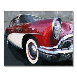 PC4050696 Malowanie po numerach - Klasyczny samochód oldschoolowy