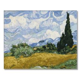 PC4050521 Malowanie po numerach - Pole pszenicy z cyprysami - V. van Gogh