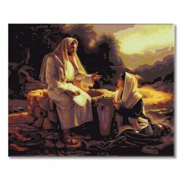 PC4050475 Malowanie po numerach - Jezus i Samarytanka