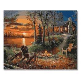PC4050700 Malowanie po numerach - Dom w głębi lasu