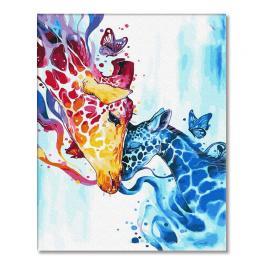 PC4050727 Malowanie po numerach - Kolorowe żyrafy