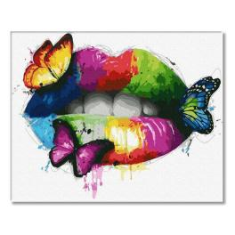 PC4050775 Malowanie po numerach - Kolorowe usta