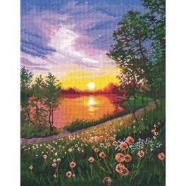 OV 1356 Zestaw do haftu - Letni zachód słońca