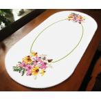 ZU 10472 Zestaw do haftu - Bieżnik owalny - Kolorowe kwiaty