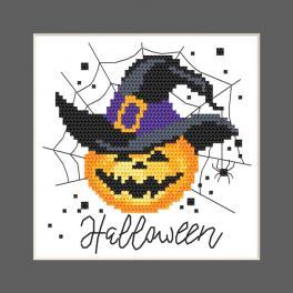 GU 10473 Wzór do haftu drukowany - Kartka - Wesołego Halloween