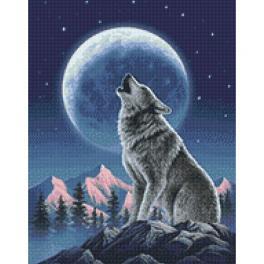 WD2348 Zestaw do diamond painting - Księżycowy strażnik