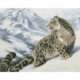 M AZ-1520 Zestaw do diamond painting - Pantera śnieżna