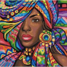 M AZ-1589 Zestaw do diamond painting - Ghana