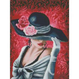 M AZ-1504 Zestaw do diamond painting - Różana dama