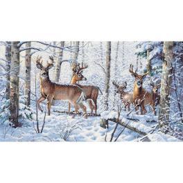 DIM 35130 Zestaw do haftu - Zima w lesie