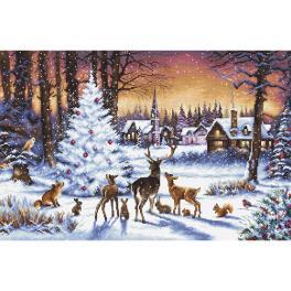 LETI 947 Zestaw do haftu - Świąteczny las