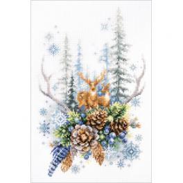 MN 200-017 Zestaw do haftu - Duch zimowego lasu